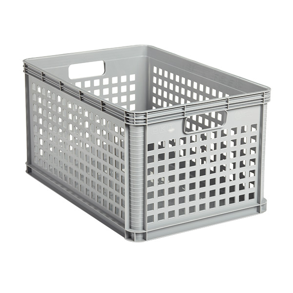 Large Robusto Grid Bin Silver