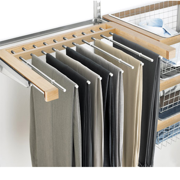 elfa decor Gliding Pant Rack Birch