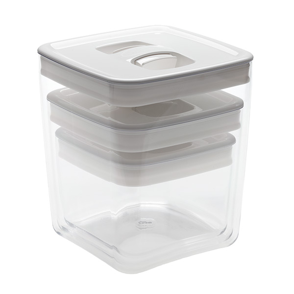 Click Clack Cube White Lid Set of 3