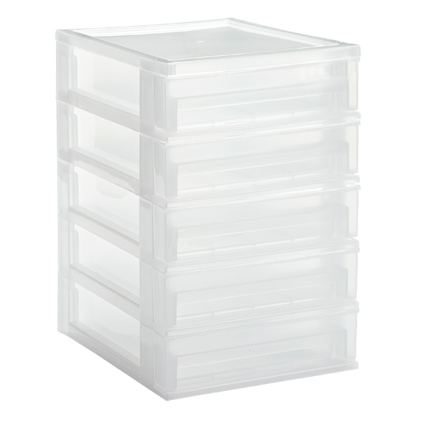5-Drawer Desktop Organizer Clear