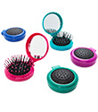 Pop-Up Hair Brush with Mirror