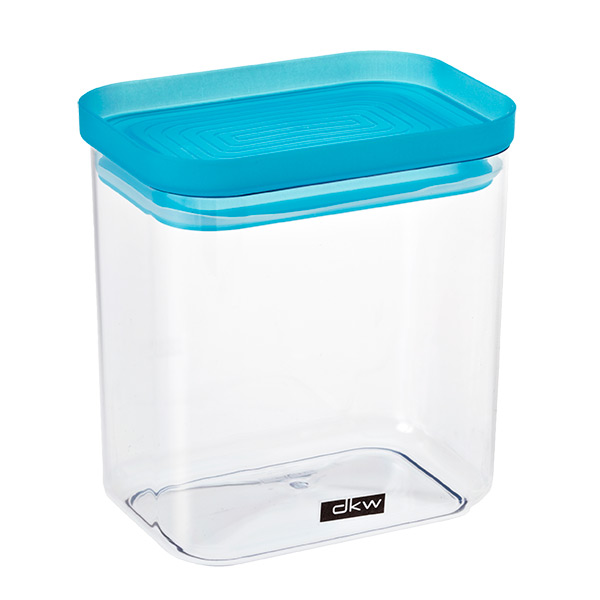 38 oz. Rectangle Canister Turquoise Lid