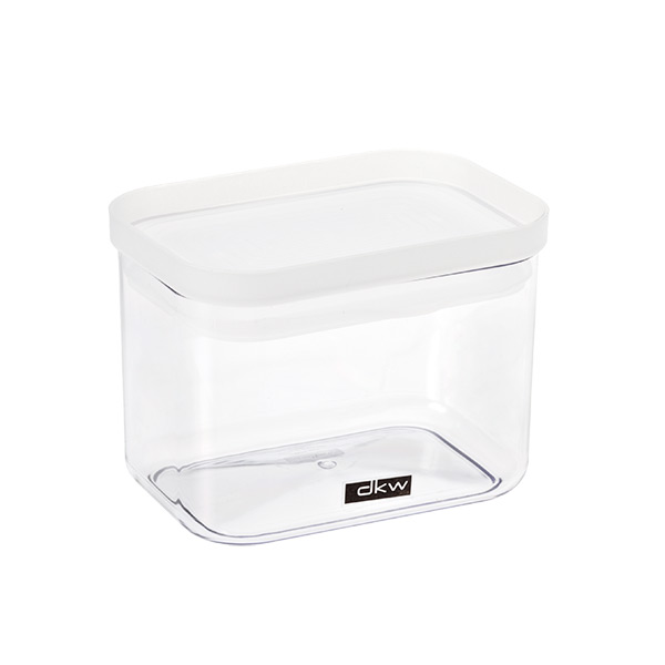 24 oz. Rectangle Canister Translucent Lid