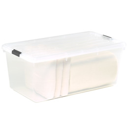 22.75 gal. Clear Tote with Locking Lid