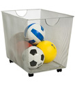 Silver Mesh Rolling Bin