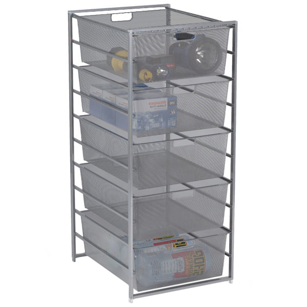 Platinum elfa Mesh Garage Drawers