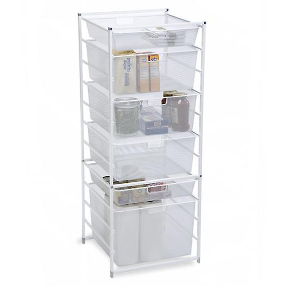 White Cabinet-Sized elfa Drawer Frames