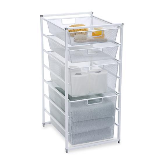 White Cabinet-Sized elfa Mesh Drawers