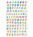 Sparkle Alphabet Stickers