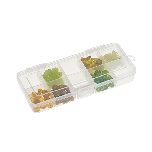Small 10-Compartment Box Translucent