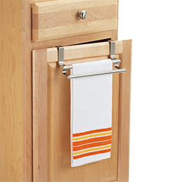 Stainless Steel Overcabinet Double Towel Bar