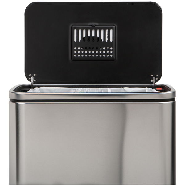 simplehuman 10 gal. Steel Bar Step Can
