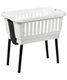 Amico Basket w/ Folding Legs White