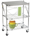 InterMetro&reg; Folding Chef&#39;s Cart