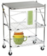 InterMetro Folding Chef's Cart Chrome/Stainless