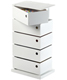 5-Bin Storage Tower White