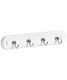 4-Hook Key Rack Chrome/White