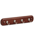 4-Hook Key Rack Nickel/Walnut