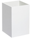 Gloss Wastebasket White