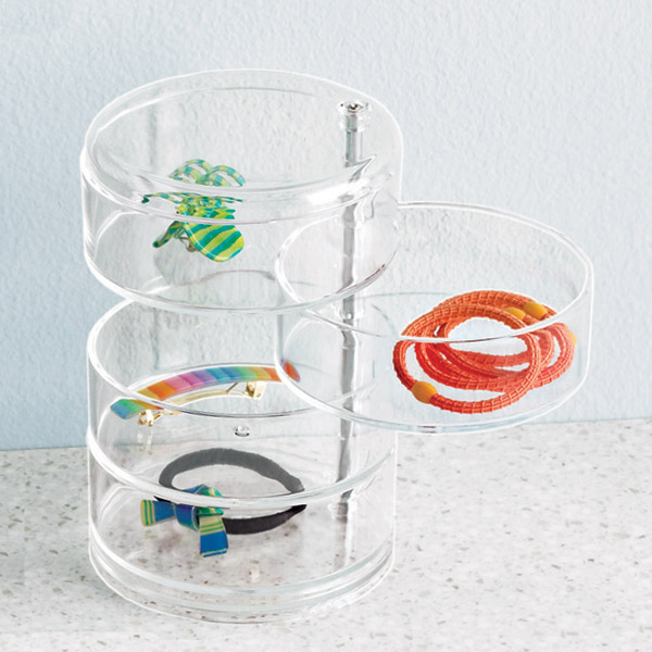 4-Section Acrylic Swivel Organizer