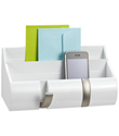 Piano White Wall-Mount Cubby Organizer by Umbra&reg;
