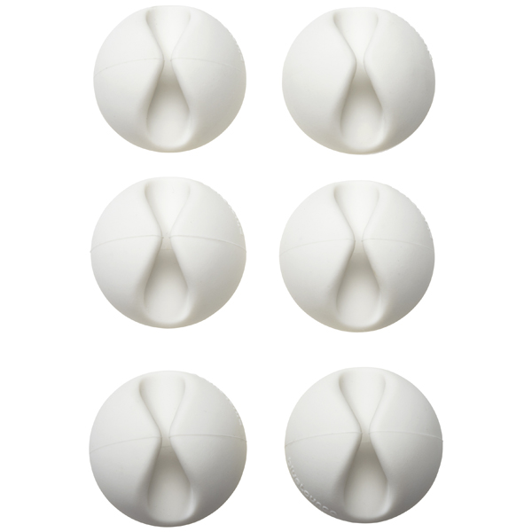 CableDrop White Pkg/6
