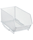 Narrow Mesh Stacking Bin White