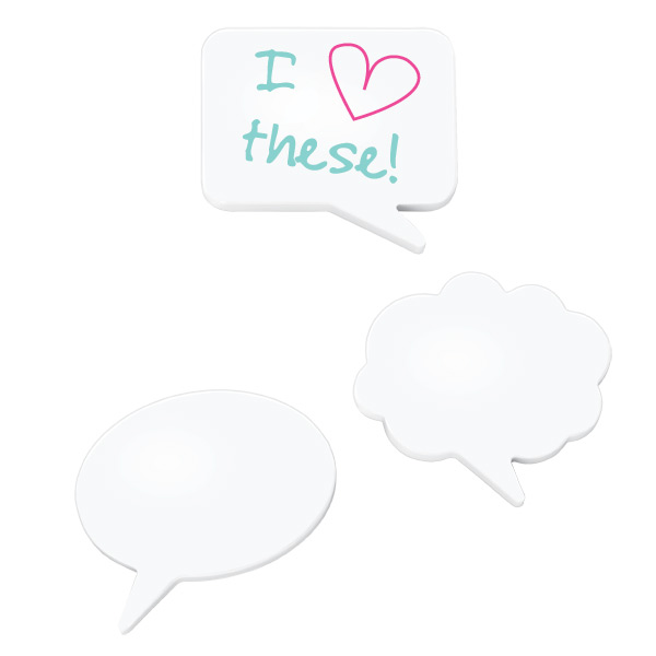 Umbra Magnetic Dry Erase Talk Bubble White Pkg/3