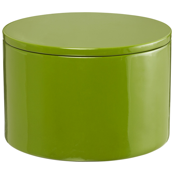Round Lacquered Box Green
