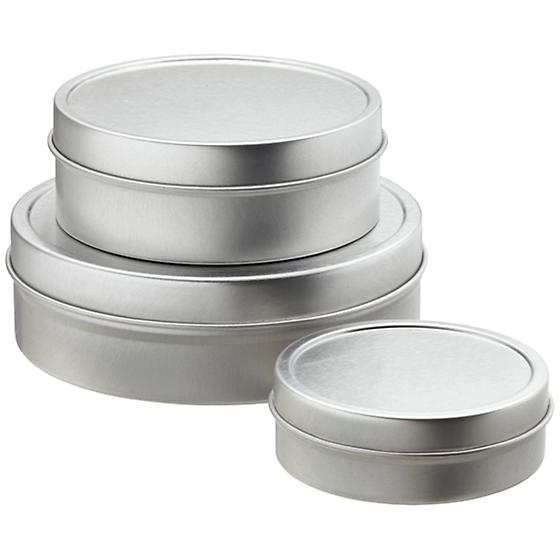 Shallow Seamless Tins