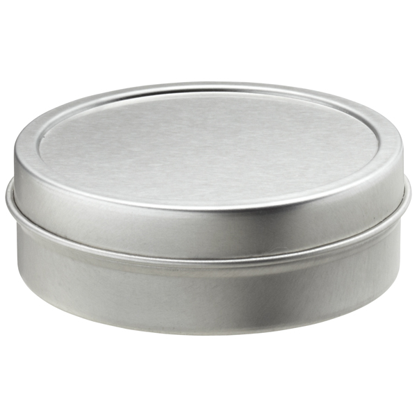 2 oz. Shallow Seamless Tin Silver