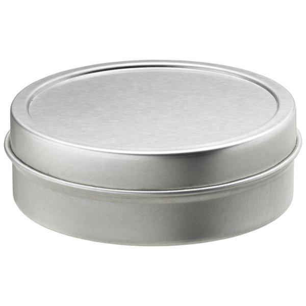 2 oz. Shallow Seamless Tin Silver