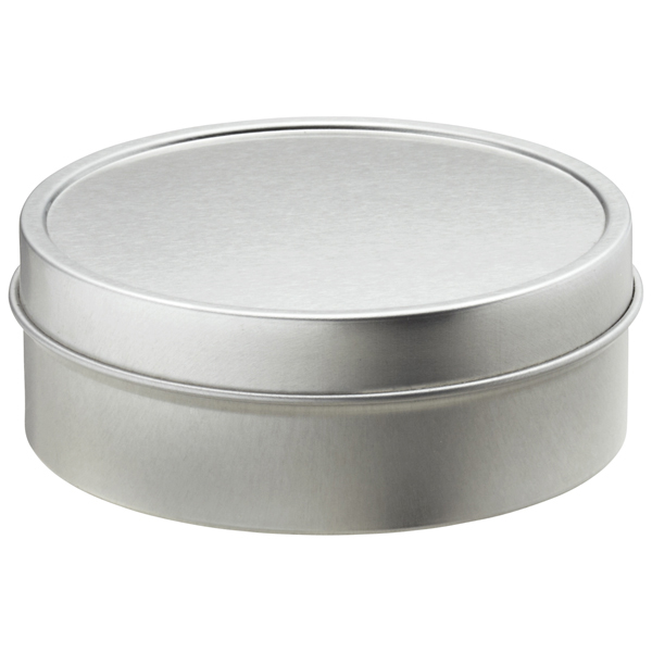 4 oz. Shallow Seamless Tin Silver