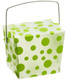 8 oz. Take Out Carton Lime Polka Dot