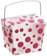 8 oz. Take Out Carton Fuchsia Polka Dot