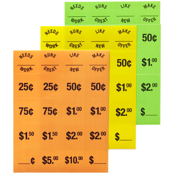 Garage Sale Price Tags Pkg/240