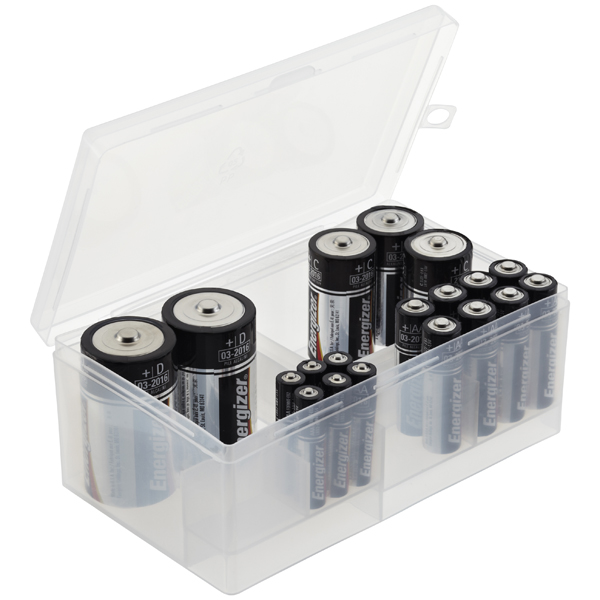 Multi Battery Storage Box Translucent