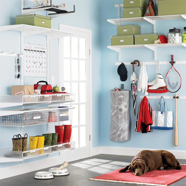 elfa utility Mudroom White