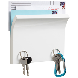 Piano White Magnetter Key & Letter Holder by Umbra®