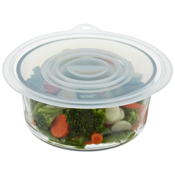 Multi-Purpose Silicone Lids Translucent Set of 3