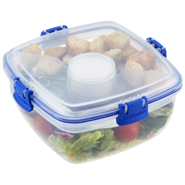 37 oz. Klip-It Salad To Go Clear 1.1 ltr.