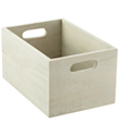 X-Small Whitewashed Wood Bin