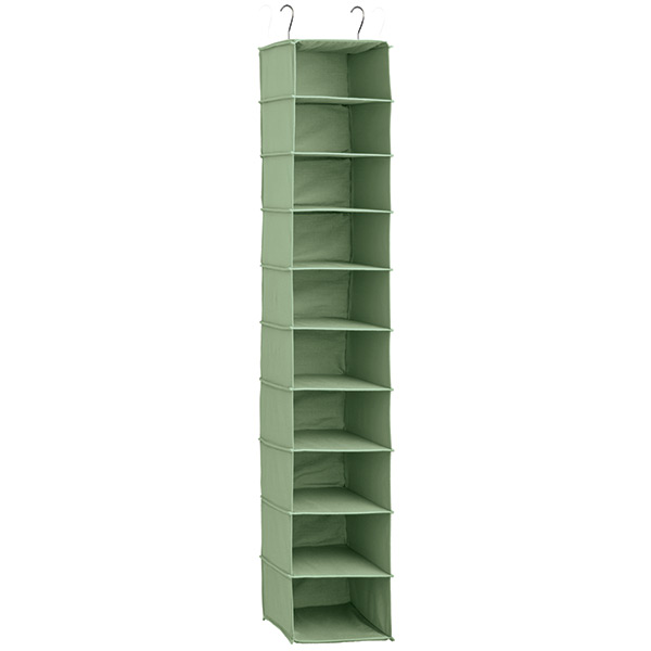 10-Compartment Hanging Shoe Bag Verde