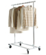 Folding Commercial Garment Rack Chrome