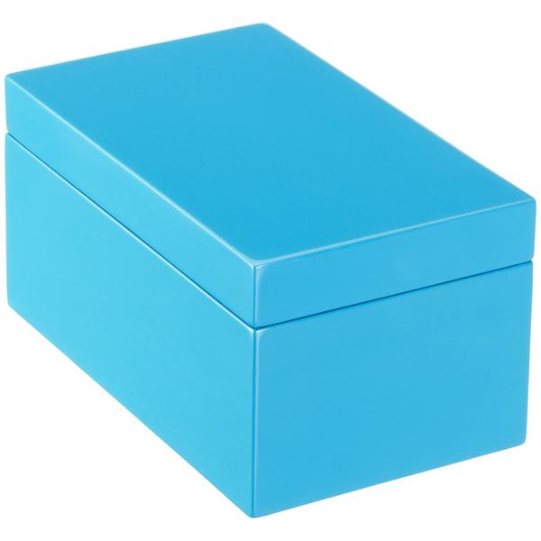 Medium Lacquered Rectangular Box The Container Store