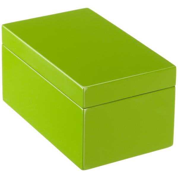 Medium Lacquered Rectangular Box Green