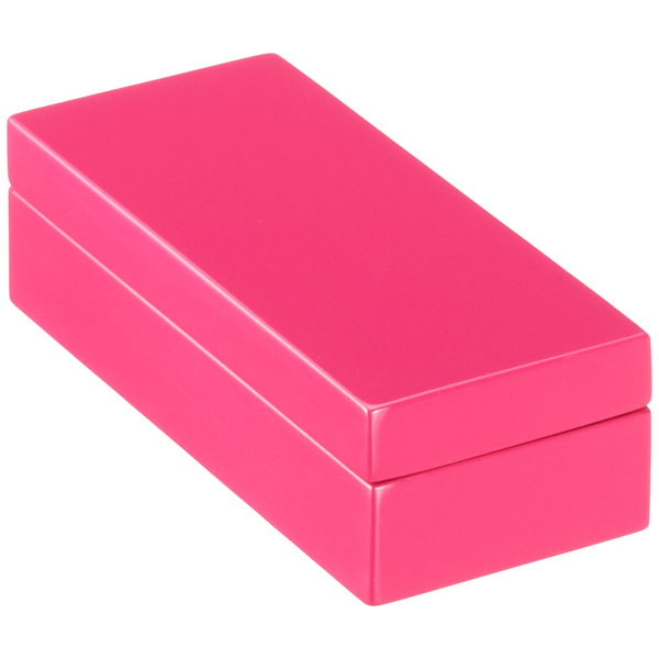 Mini Lacquered Rectangular Box Fuchsia