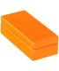 Mini Lacquered Rectangular Box Orange