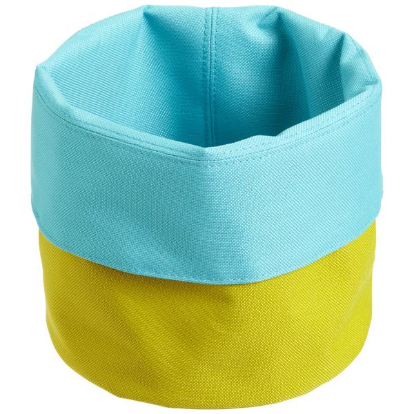 reisenthel Cuffed Fabric Bin Turquoise/Kiwi