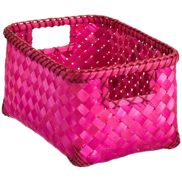 Small Weave Bin Fuchsia